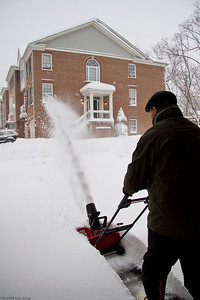 Snomageddon - 6 February 2010 Time for Mui to put the snowblower to good use.