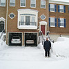 Snomageddon - 6 February 2010<br /> Proud of his handiwork, Mui poses for me just before we go for a walk in the snow.