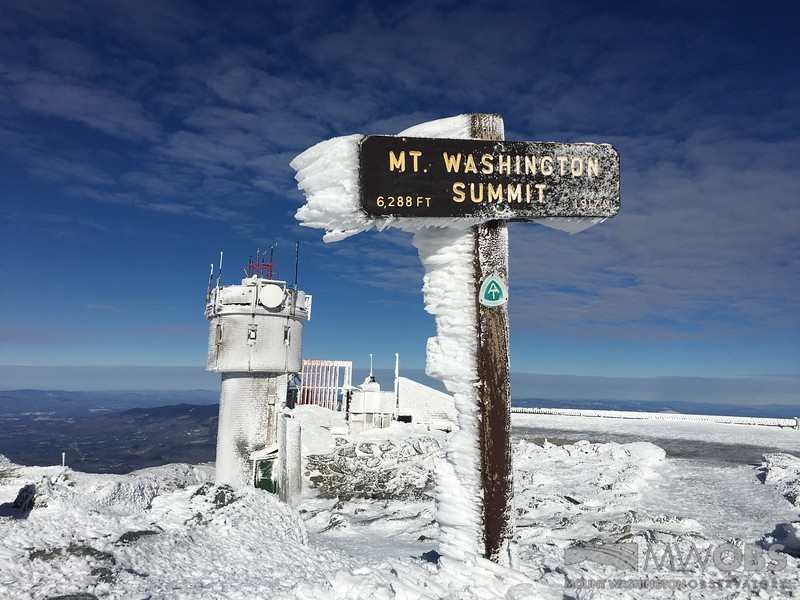 Rime on Summit Sign with tower