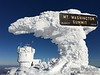Rime Ice on Summit Sign