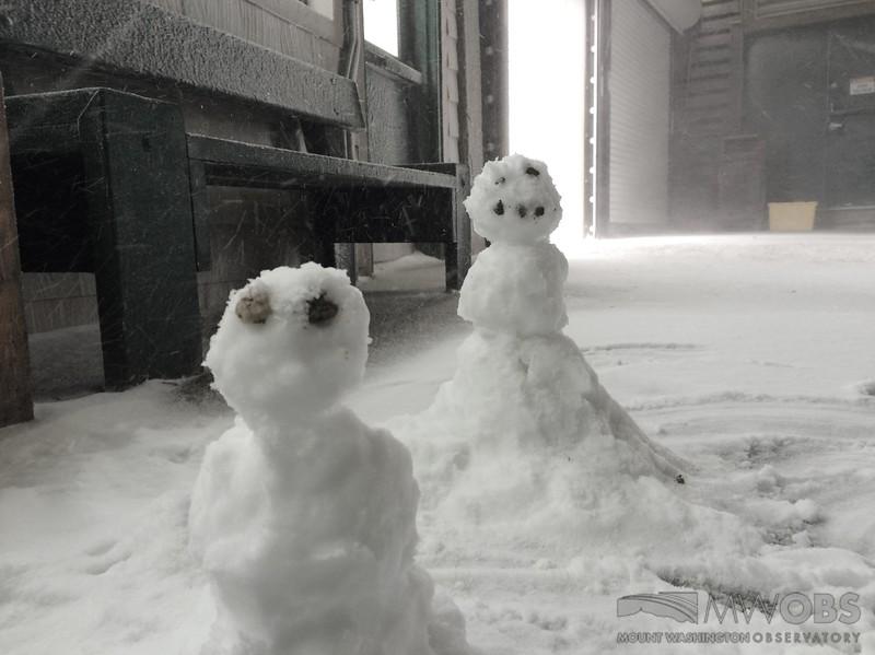 Snowpeople in June
