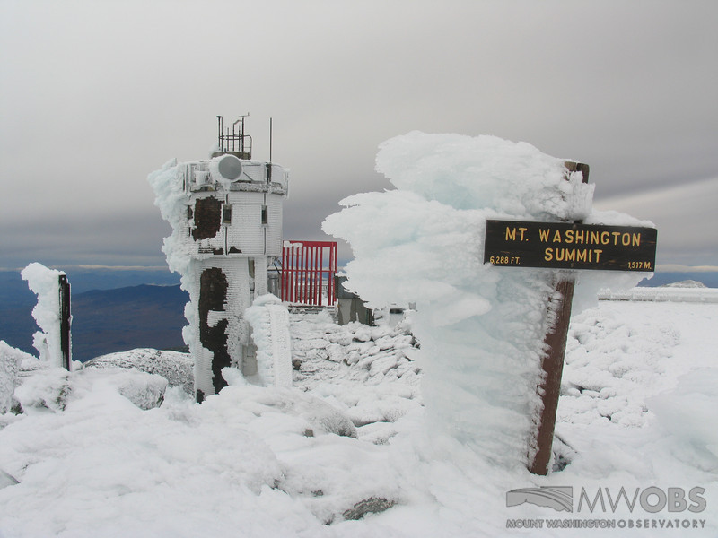 Rime On The Summit Sign
