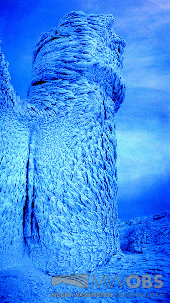 Tower Heavily Covered In Rime