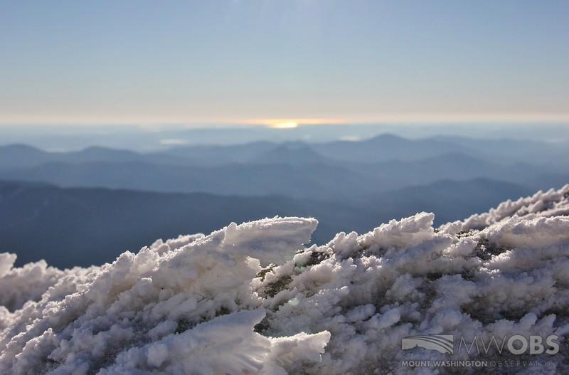 Rime Ice looking towards the Atlantic