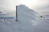 Rime ice on a pole