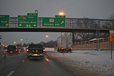 I-240 at the Jackson Ave exit.