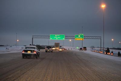 I-240 at the Millington exit around 7:00am.