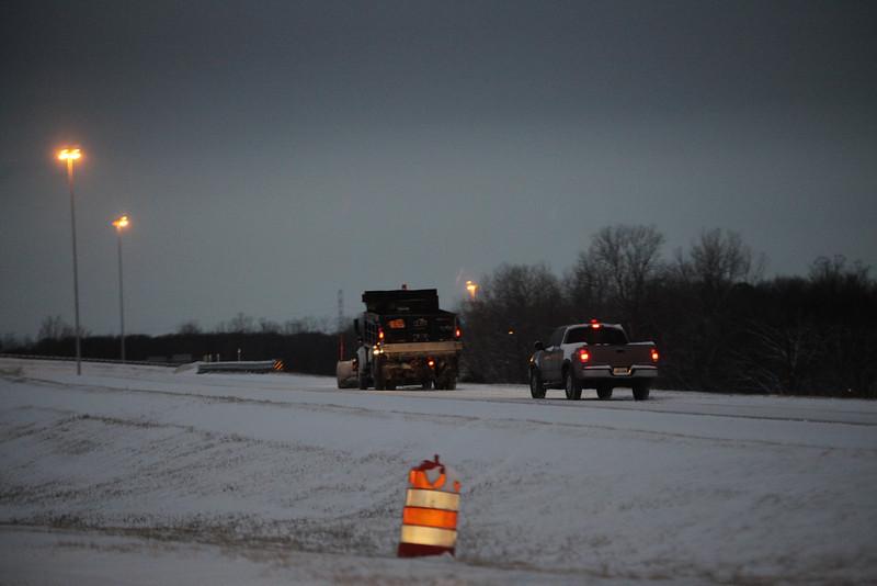 Salt / Sand truck at I-240 at the Millington exit.