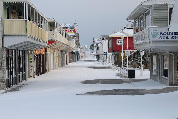 Snow Jan 24 2013 Ocean City and Assateague