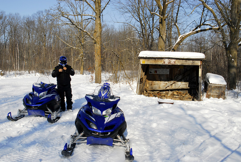 Stopping at a trail shelter- north of Bock, MN