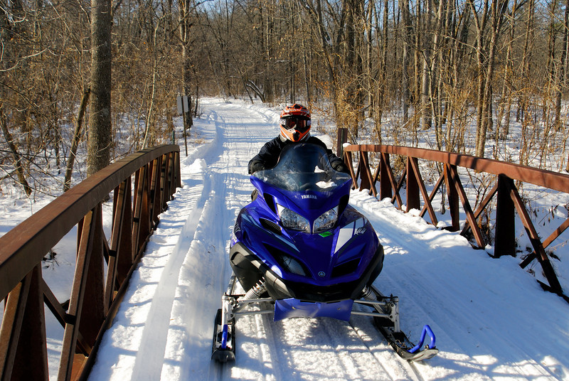 Matt enjoying a great day of riding - St. Croix State Park