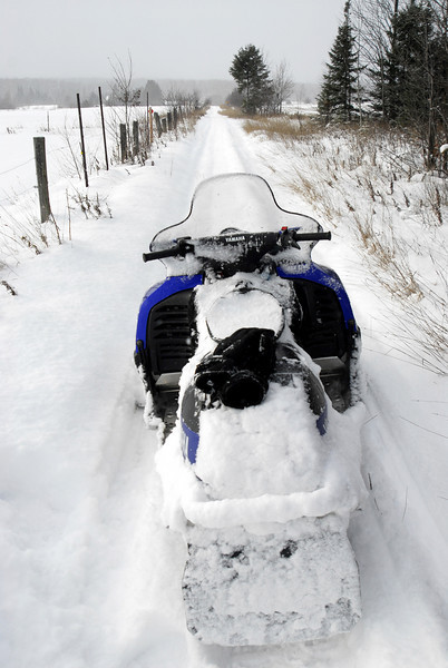 """My sled after going through a field of 16"""" powder."""