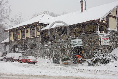 Belmont Lions Club and Former Boston And Maine Railroad Station, Belmont Massachusetts -- Images shot in and around Belmont Massachusetts during a snowstorm that occurred on Sunday, December 21, 2008