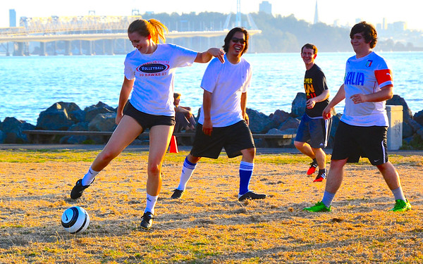 Soccer at Emeryville Marina Park