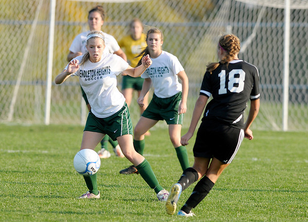 Pendleton Heights faced Noblesville in sectional action at the White River Soccer Fields in Noblesville on Thursday.