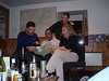 Song time in Mill Cottage. The singers are Scott, Ickers and Sarah, with Jules on guitar.