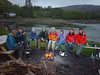 The Orion around the camp fire in Rum.<br /> Silke, Julian, Abigail, Steve, Graeme, Brian, Martina, Gordy, Scott.