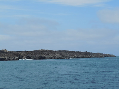 A lava flow that extends underwater - our first dive site.