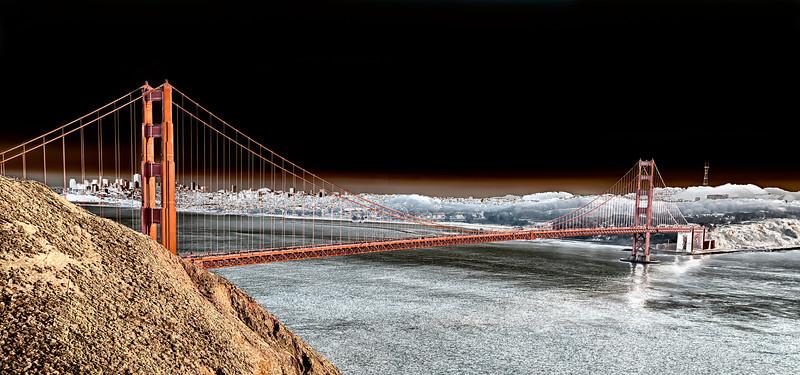 Golden Gate Bridge, color solor
