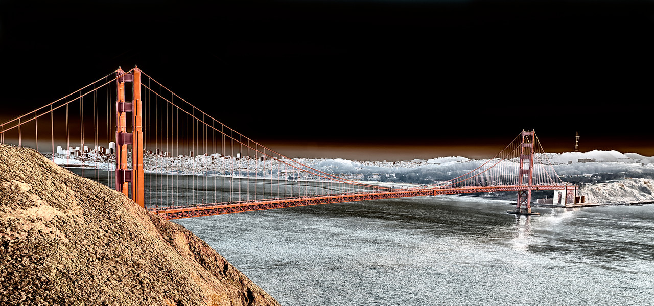 Golden Gate Bridge, color solor