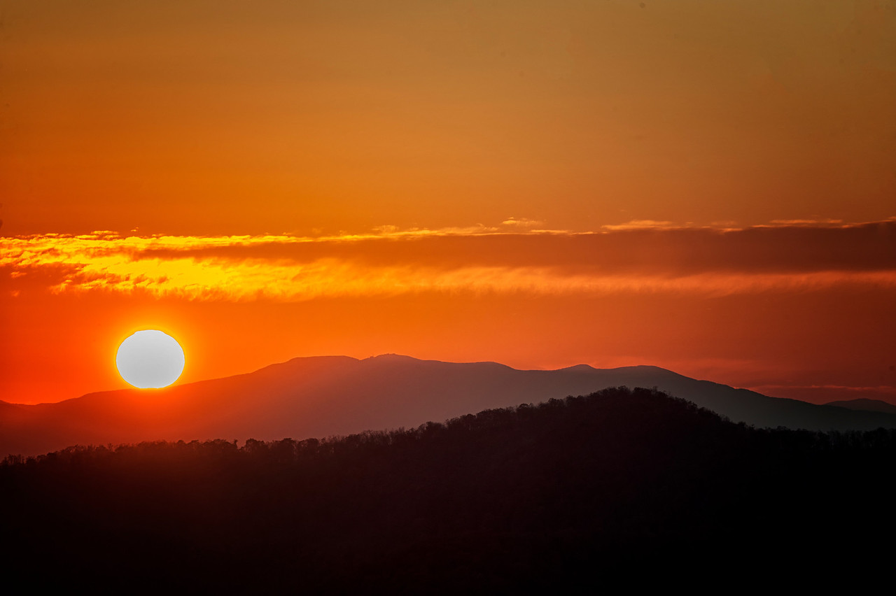 Sunset on Skyline Drive, VA