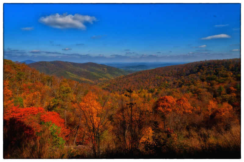 Skyline Drive middle of Oct. 2012