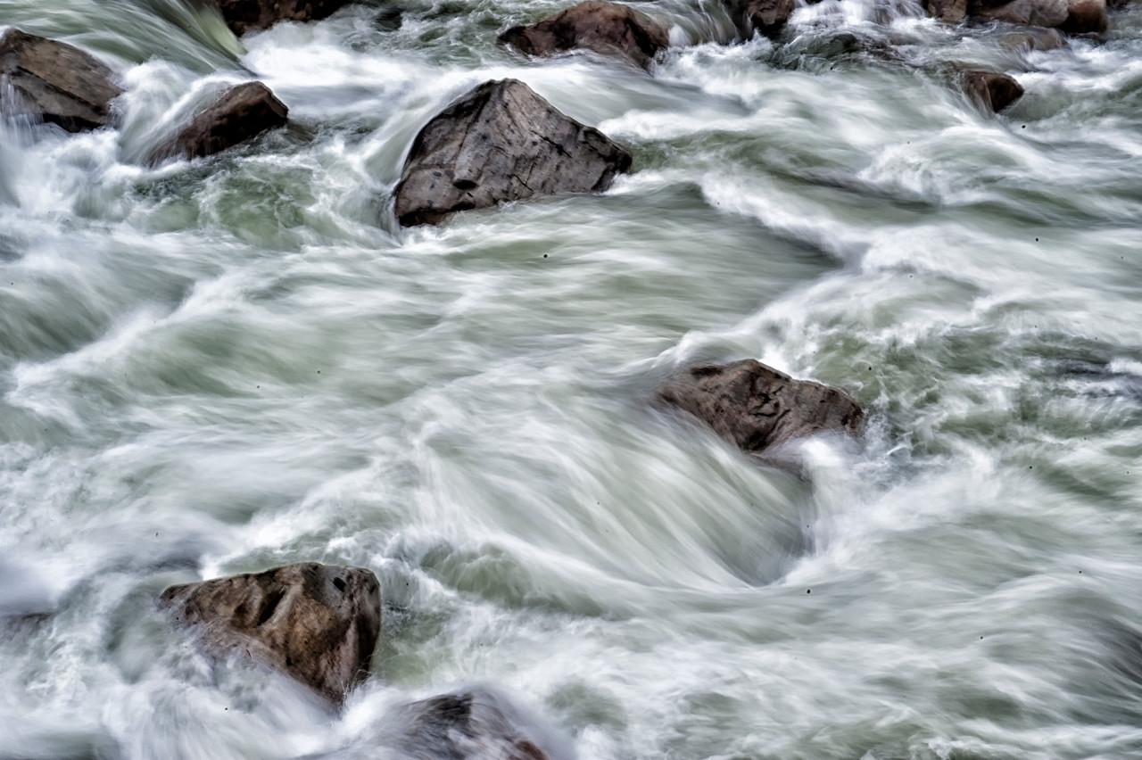 Rushing Water scene,  Merced River in Yosemite, CA