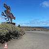 This sculpture, I believe designed by César Manrique can be found outside of every major tourist attraction in Lanzarote.