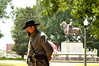 Looking a lot like the General, Mike Cole visits General Nathan Bedford Forrest Park with fellow Civil War reenactors on the 191st anniversary of his birth