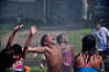 The annual Independence Day celebration on Aurora Circle in Memphis ends with the Memphis Fire Department cooling off participants