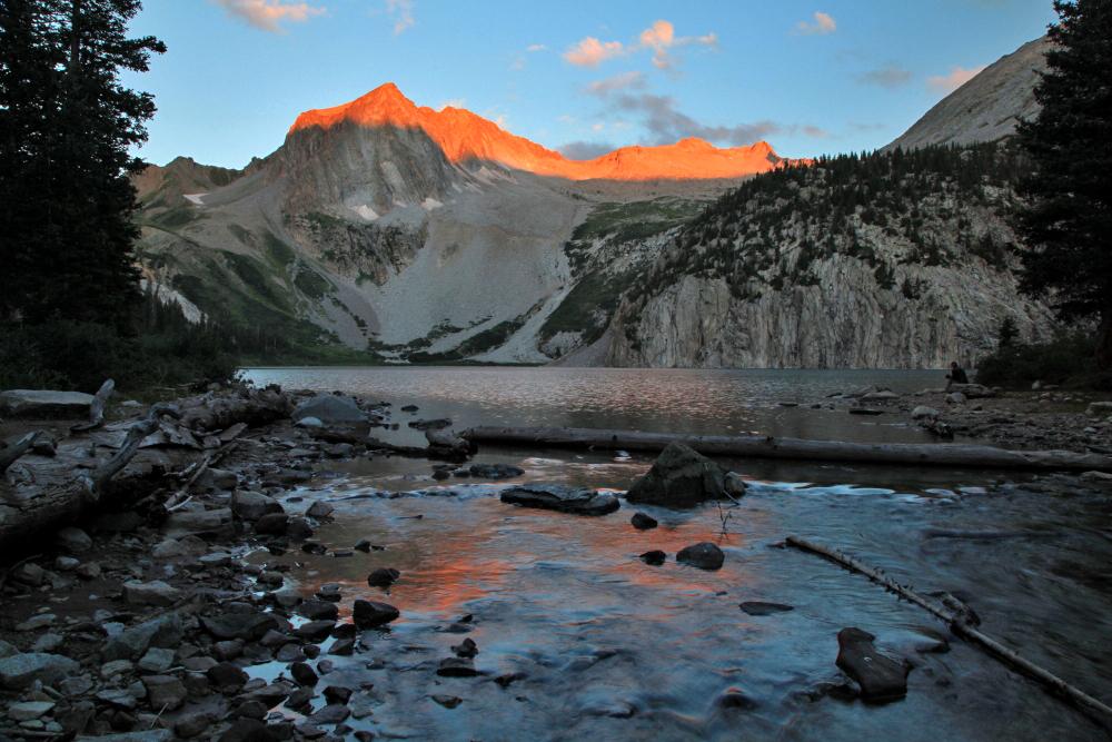 Sunrise at Snowmass Lake