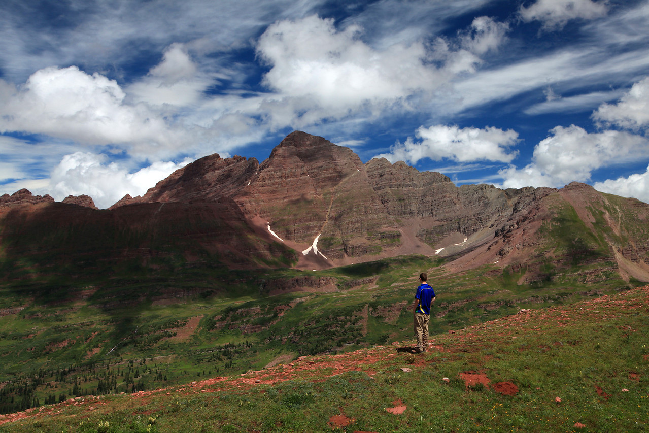 View toward Maroon Bells from Fravert Basin