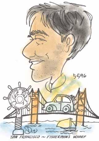 A sketch of me at San Francisco