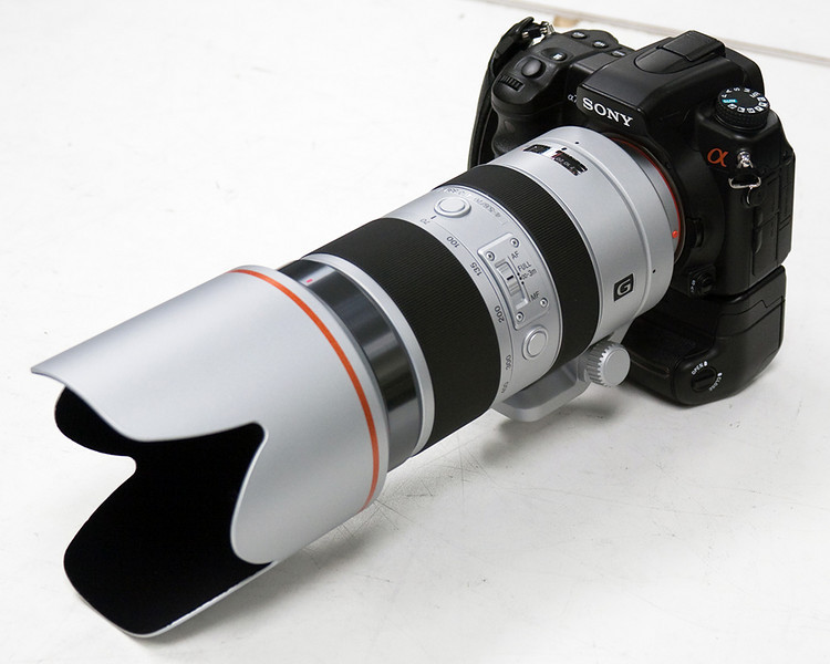 Sony a700 with Sony 70-400 f/4-5.6 SSM G lens attached.