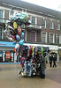Mobile Balloon and fancy goods sales lady in Hull City centre