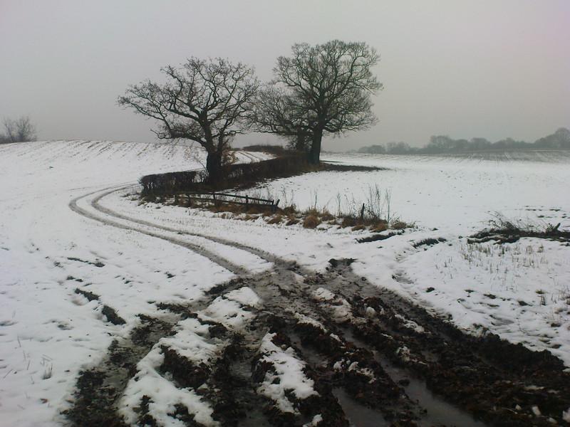 A rather bleak February morning on the Castleton road