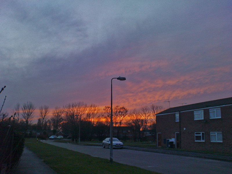 "Sunset in ""Dodge City"" (Bransholme) Kingston upon Hull"