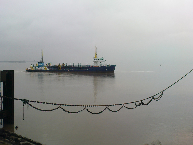 One of the inshore petrol tankers near the North Sea Ferry Terminal