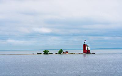 RobertEvans com  |  Macknac Island MI  Lighthouse
