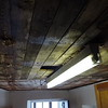 App 2: kitchen ceiling removed, old strip light about to go