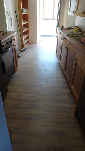 App 2: kitchen parquet floor installed