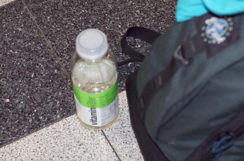 JFK airport: have vitamin water, will travel