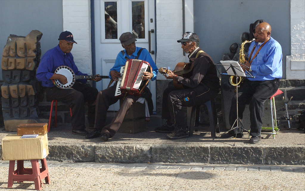 Cape Town waterfront jazz musicians