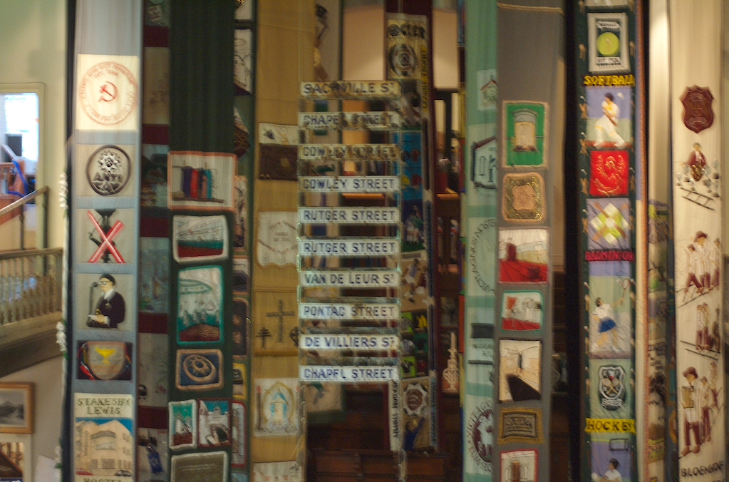 """District Six Museum, a museum documenting the removals and marginalisation of blacks and """"coloureds"""" from Sixth Municipal District of Cape Town. For more about the museum: http://www.districtsix.co.za/frames.htm"""