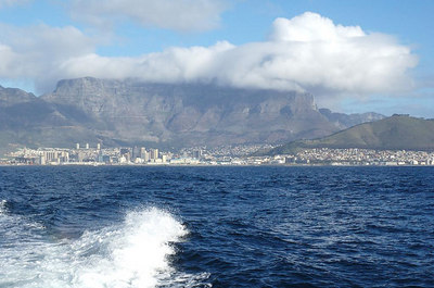 Table Mountain from ferry