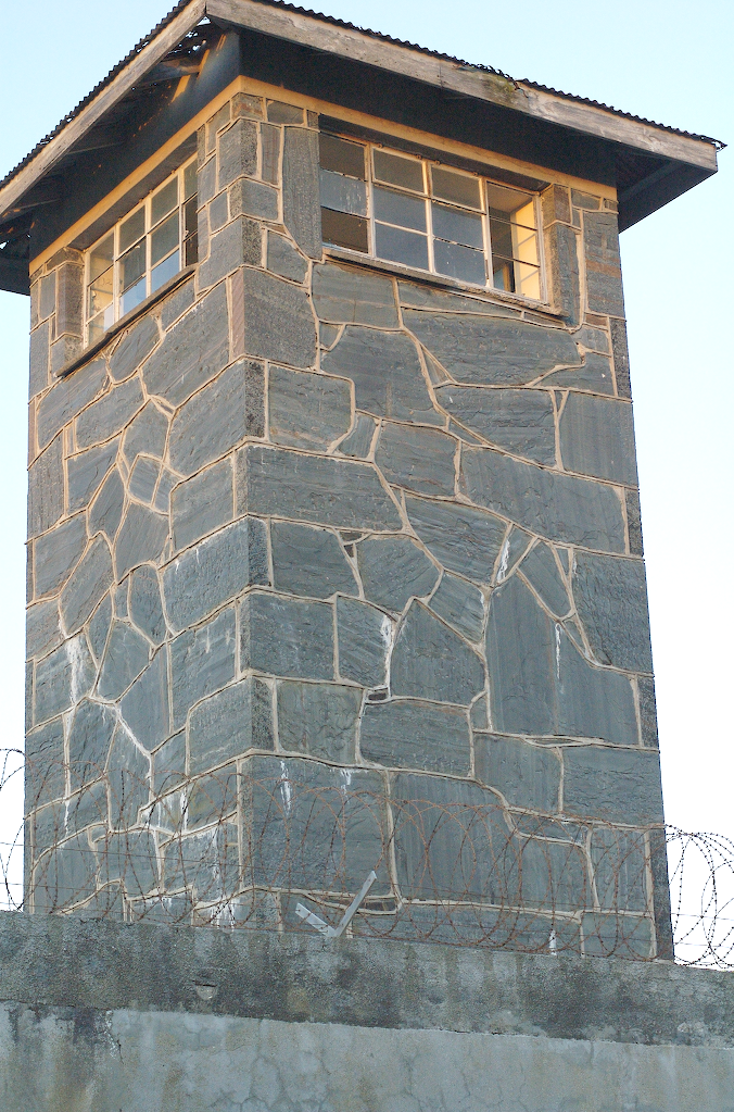 Robben Island: watch tower at sunset
