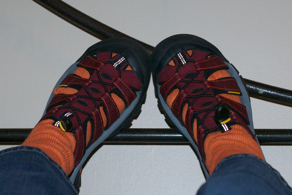The chilliness of our Stellenbosch hostel (Stumble Inn...fairly bad pun, but decent hostel) forced me to forego style for warmth & break out the free South African Airways travel socks.