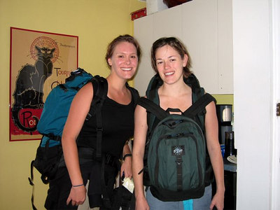 Chris & Rose: Africa Bound. Check out how small my pack was! Less than 10 kgs for a 23 day trip.