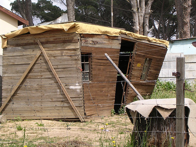 This is a Care Client's shack. Six people sleep here every night Three have Terburculosis