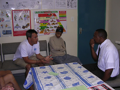 Here I was sharing with her and Thozi a med student that denial is whats killing our brothers and sisters in the evolution of AIDS today. I think I startled him.